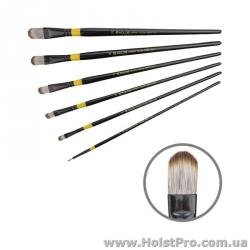 Кисти для рисования, Синтетика овальная, Yellow stripe 1017 (размер от 2 до 22)