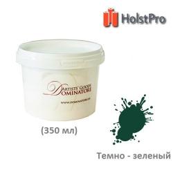 Краска акриловая художественная, Темно-зеленая, Dom Arte (350 мл) Украина