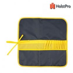 Пенал для кистей, ткань (37х37см), асфальт+желтый