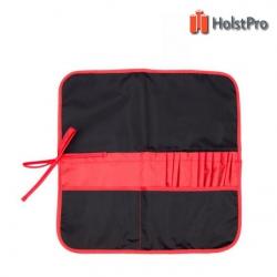 Пенал для кистей, ткань (37х37см), черный+красный