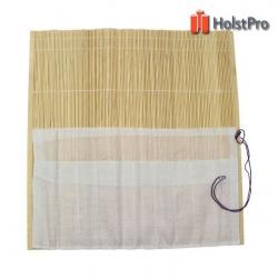 Пенал для кистей, бамбук, натуральный цвет+ткань (36х36см), D.K.ART § CRAFT