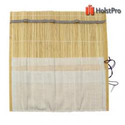 Пенал для кистей, бамбуковый, натуральный цвет+ткань (33х33см), D.K.ART § CRAFT