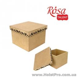 Заготовка для декупажа, Коробка с фигурной крышкой 2, МДФ, 15х15х13 см