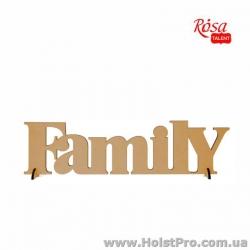 "Заготовки для декупажа, надпись ""FAMILY"", МДФ, 45х12см"