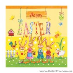 "Салфетки для декупажа, ""Happy Easter"", 33*33 см, 17,5 г/м2, 20 шт, ti-flair"