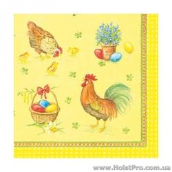 "Салфетки для декупажа, ""Курицы"", 33*33 см, 17,5 г/м2, 20 шт, ti-flair"