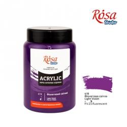 Краска акриловая, Фиолетовая светлая, 400 мл, ROSA Studio