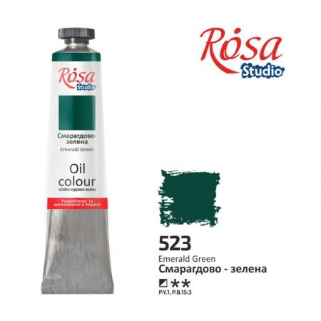 Купить краска масляная, Изумрудно-зеленая 60мл, ROSA Studio, краски для рисования