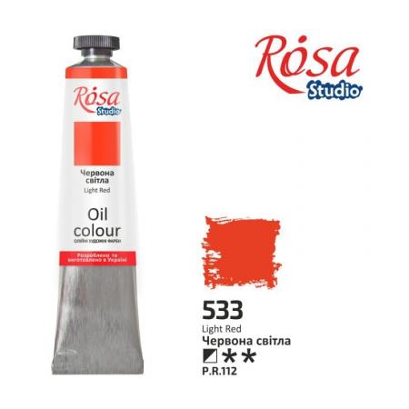 Купить краска масляная, Красная светлая 60мл, ROSA Studio, краски для рисования