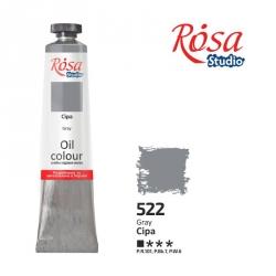 Краска масляная, Серая 60мл, ROSA Studio