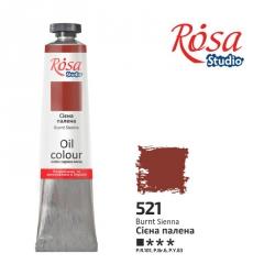 Краска масляная, Сиена жженая 60мл, ROSA Studio