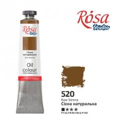 Краска масляная, Сиена натуральная 60мл, ROSA Studio