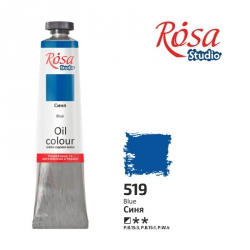 Краска масляная, Синяя 60мл, ROSA Studio