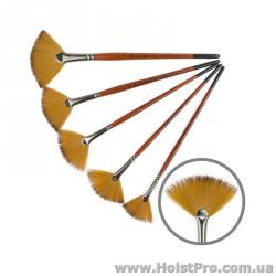 Кисть для рисования, Синтетика веерная, Carrot 1097FN, (размер от 2 до 10)