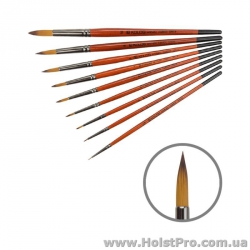 Синтетика круглая, Carrot 1097R, универсальная кисть, (размеры от 0 до 10)