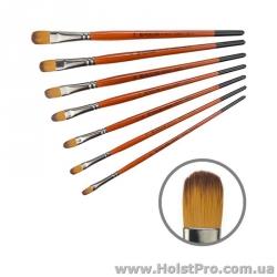 Кисть для рисования, Синтетика овальная, Carrot 1097FR (размер от 2 до 14)