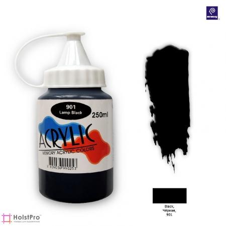 Акриловая краска Memory professional - Черная, 250 мл