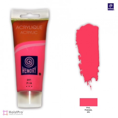 Акриловая краска Memory professional - Розовая, 75 мл