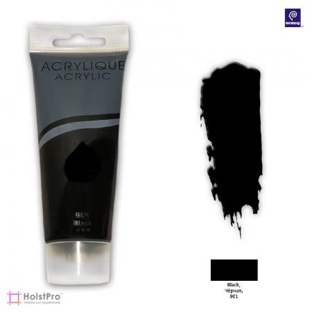 Акриловая краска Memory professional - Черная, 75 мл