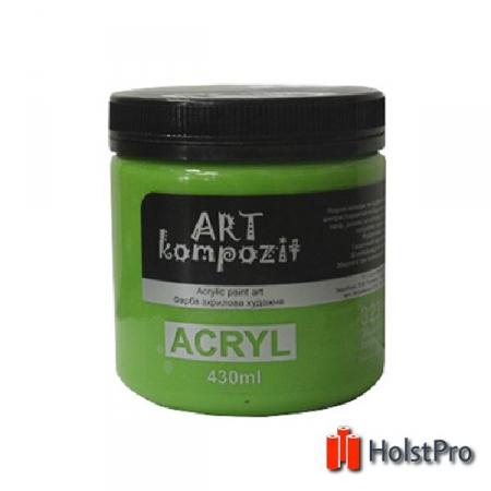 Краска акриловая, Желто-зеленый, 430 мл, Art Kompozit