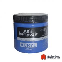 Краска акриловая, Кобальт синий темный, 430 мл, Art Kompozit