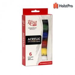 Набор акриловых красок 6*20мл, ROSA Studio