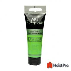Краска акриловая, Желто-зеленый, 75 мл, Art Kompozit