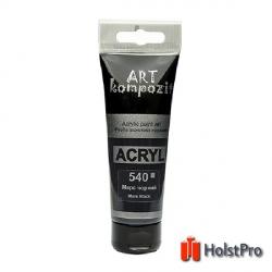 Краска акриловая, Марс черный, 75 мл, Art Kompozit