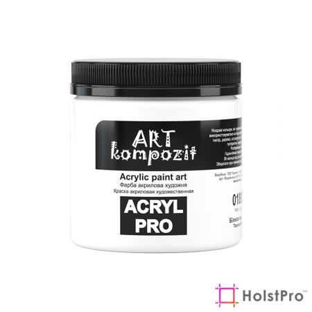 Краска акриловая, Белила титановые, 430 мл, Art Kompozit