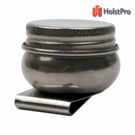 Маслёнка одинарная, металлическая с крышкой (d:4,2см), D.K.ART § CRAFT