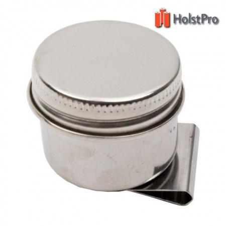 Маслёнка одинарная, металлическая с крышкой (d:4см), D.K.ART § CRAFT