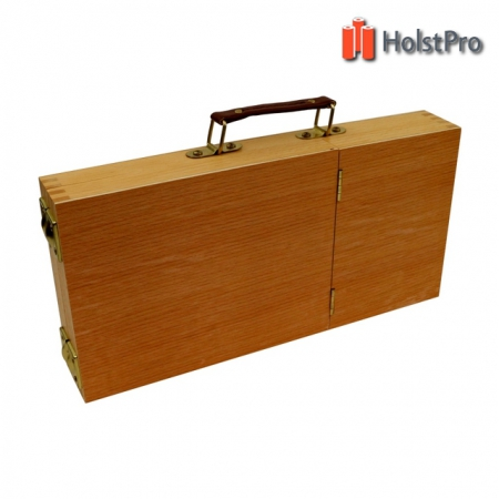 Пенал-этюдник акварельный, деревянный (вяз) (33х16,5х5см)