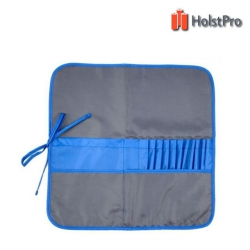 Пенал для кистей, ткань (37х37см), асфальт+синий