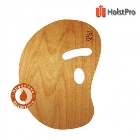 Палитра деревянная, овальная МОДЕРН, эргономичная, промасленная, 30*40см