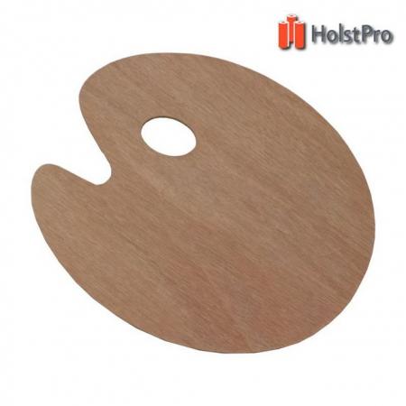 Палитра деревянная, овальная, 25х30см., (толщина 3мм.)