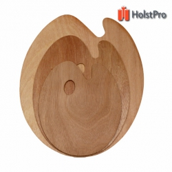 Палитра деревянная, овальная, 30х40см., (толщина 3мм.), D.K.ART § CRAFT