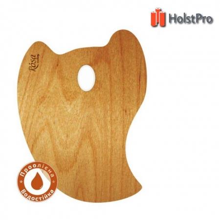 Палитра деревянная, перцевидная МОДЕРН, промасленная, 30*40см, ROSA