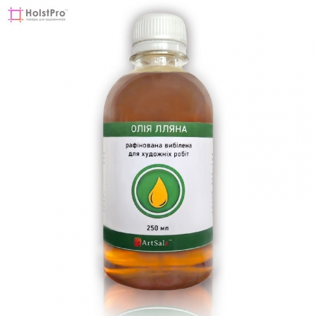 Рафинированное отбеленное льняное масло, ArtSale™ (Украина), 250 мл