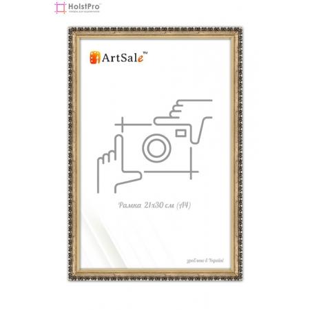 Рамка для диплома А4  античное золото с вензелем ТМ АртСейл Art: FF171303-2