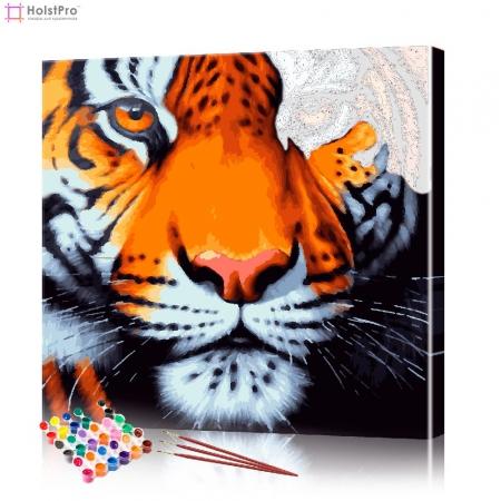 "Картина по номерам ""Тигр"" PBN0007, размер 30х30 см"