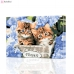 "Картина по номерам ""Пара котят"" PBN0019, размер 30х40 см"