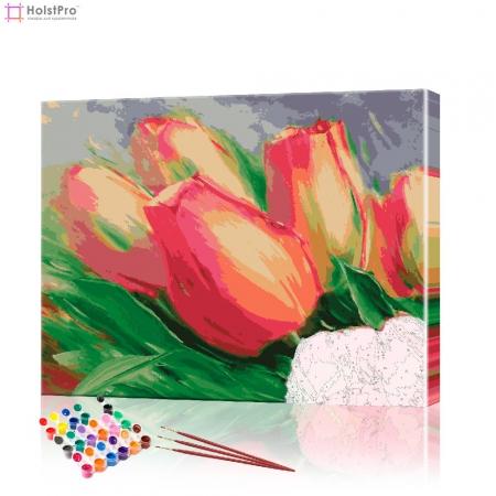 "Картина по номерам ""Красные тюльпаны"" PBN0027, размер 30х40 см"