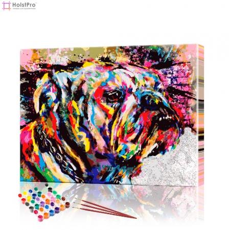 """Картина по номерам """"Бульдог"""" PBN0033, размер 30х40 см"""