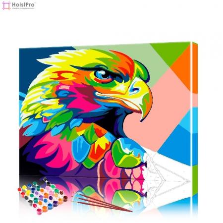 """Картина по номерам """"Цветной ястреб"""" PBN0653, размер 40х40 см"""
