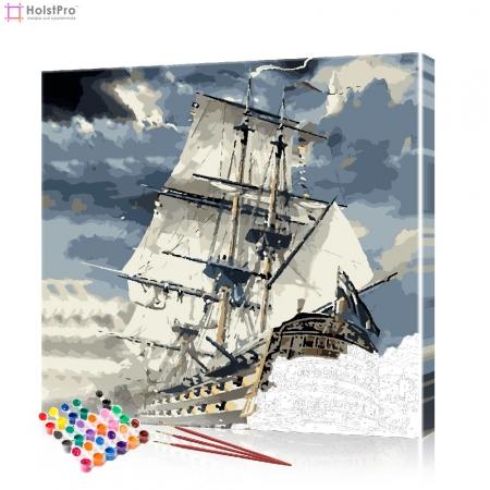 """Картина по номерам """"Фрегат"""" PBN0761, размер 40х40 см"""
