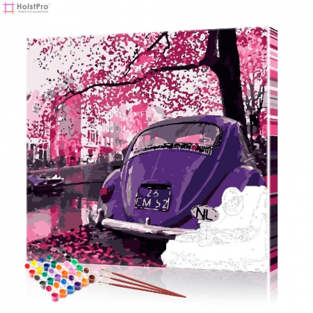 """Картина по номерам """"Фиолетовое авто"""", размер 40х40 см"""