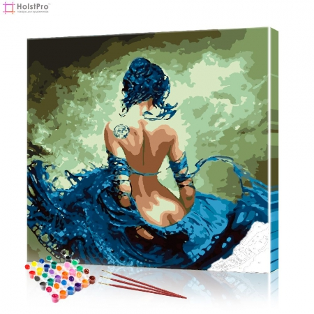 "Картина по номерам ""Роковая женщина"" PBN0853, размер 40х40 см"