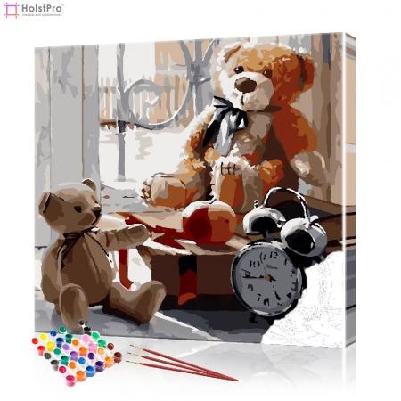"Картина по номерам ""Плюшевые медведи"" PBN0883, размер 40х40 см"