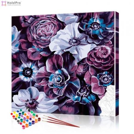"""Картина по номерам """"Фиолетовое соцветие"""" PBN0899, размер 40х40 см"""