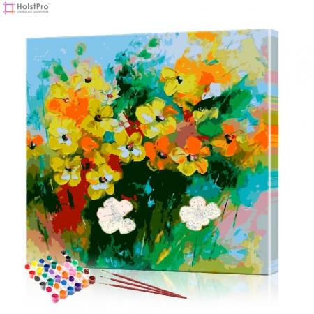 """Картина по номерам """"Полевые цветы"""" PBN0042, размер 40х40 см"""